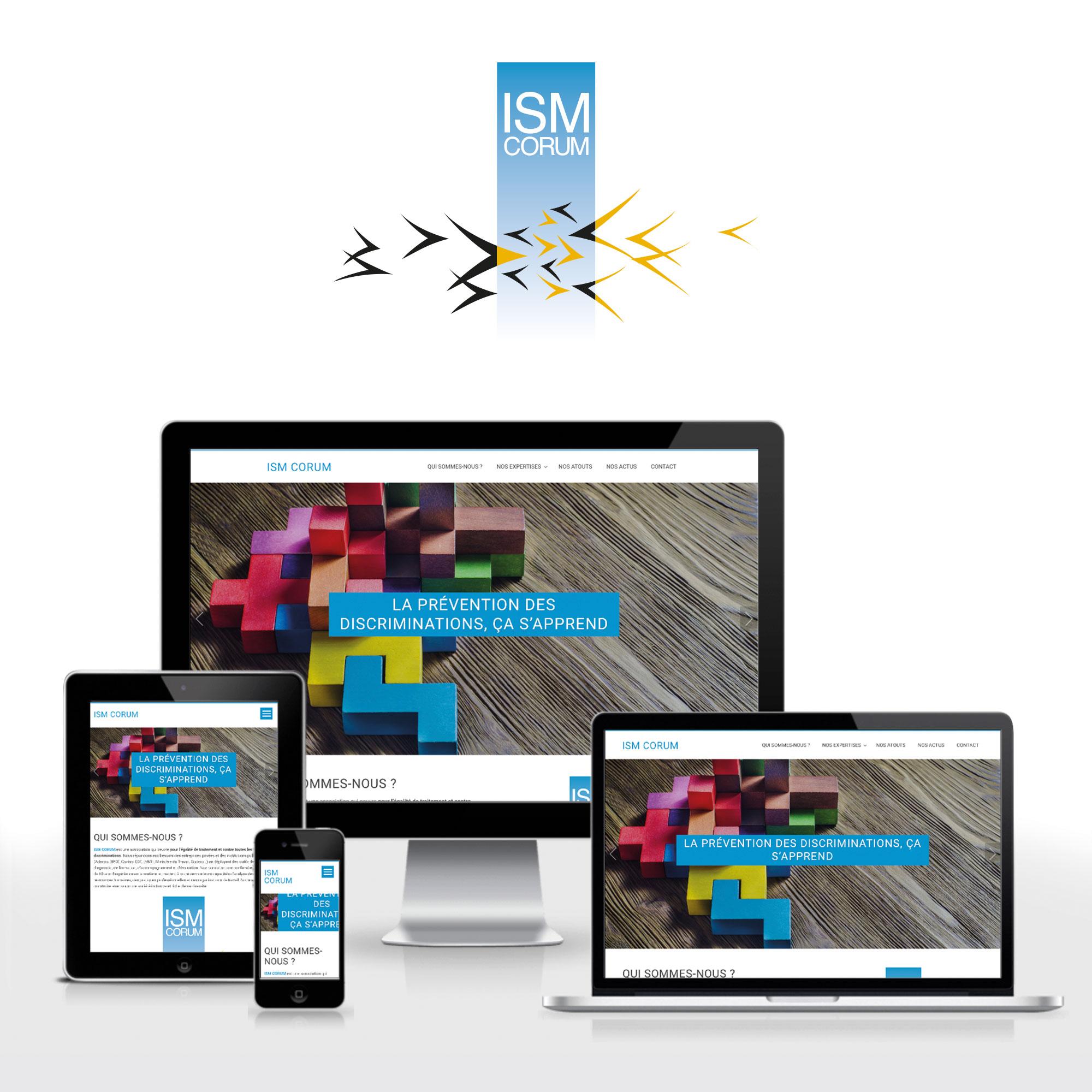 ISM CORUM par Cités Plume, agence de communication à Villeurbanne, Rhône