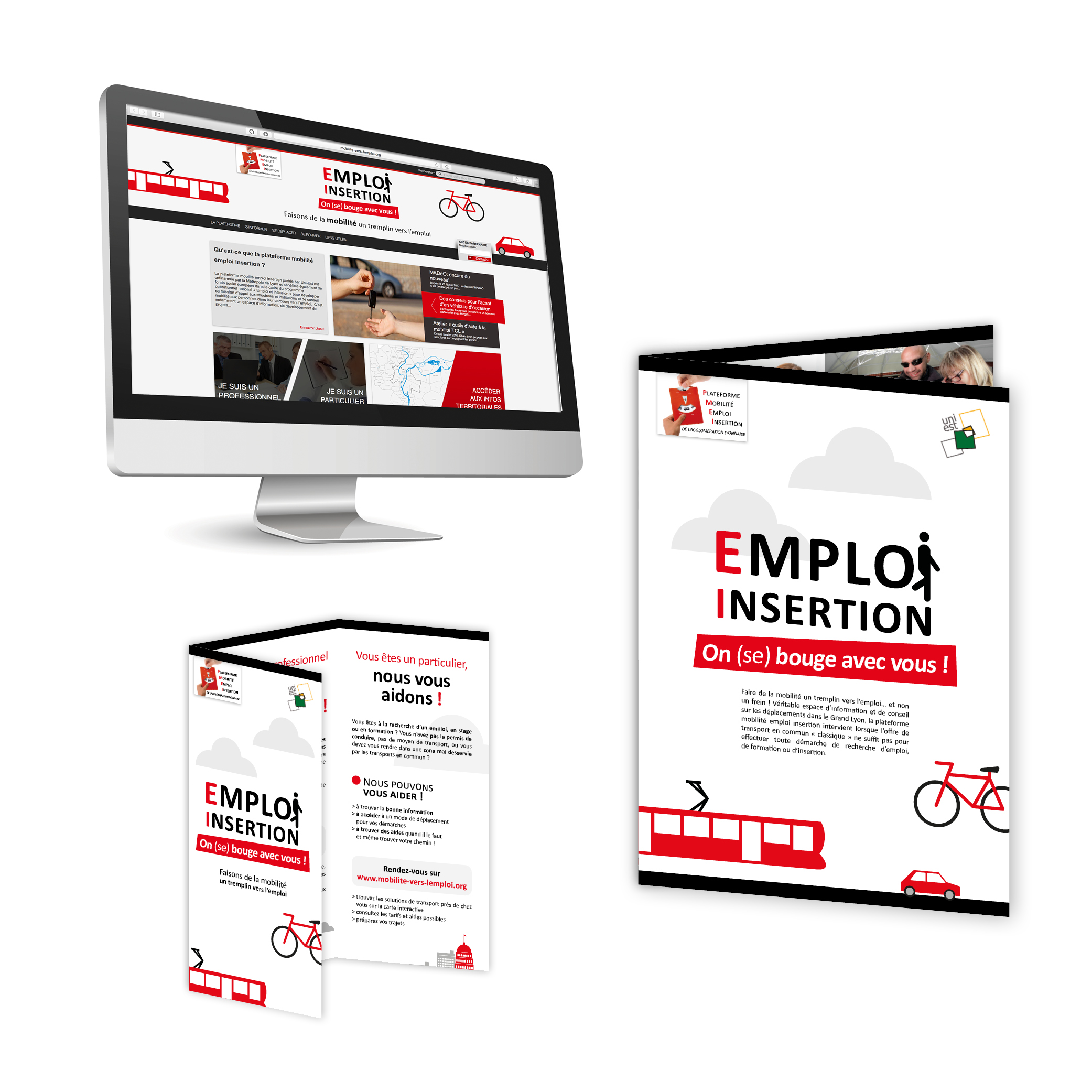 plateforme mobilité vers l'emploi, Rhône par Cités Plume, agence de communication à Villeurbanne, Rhône