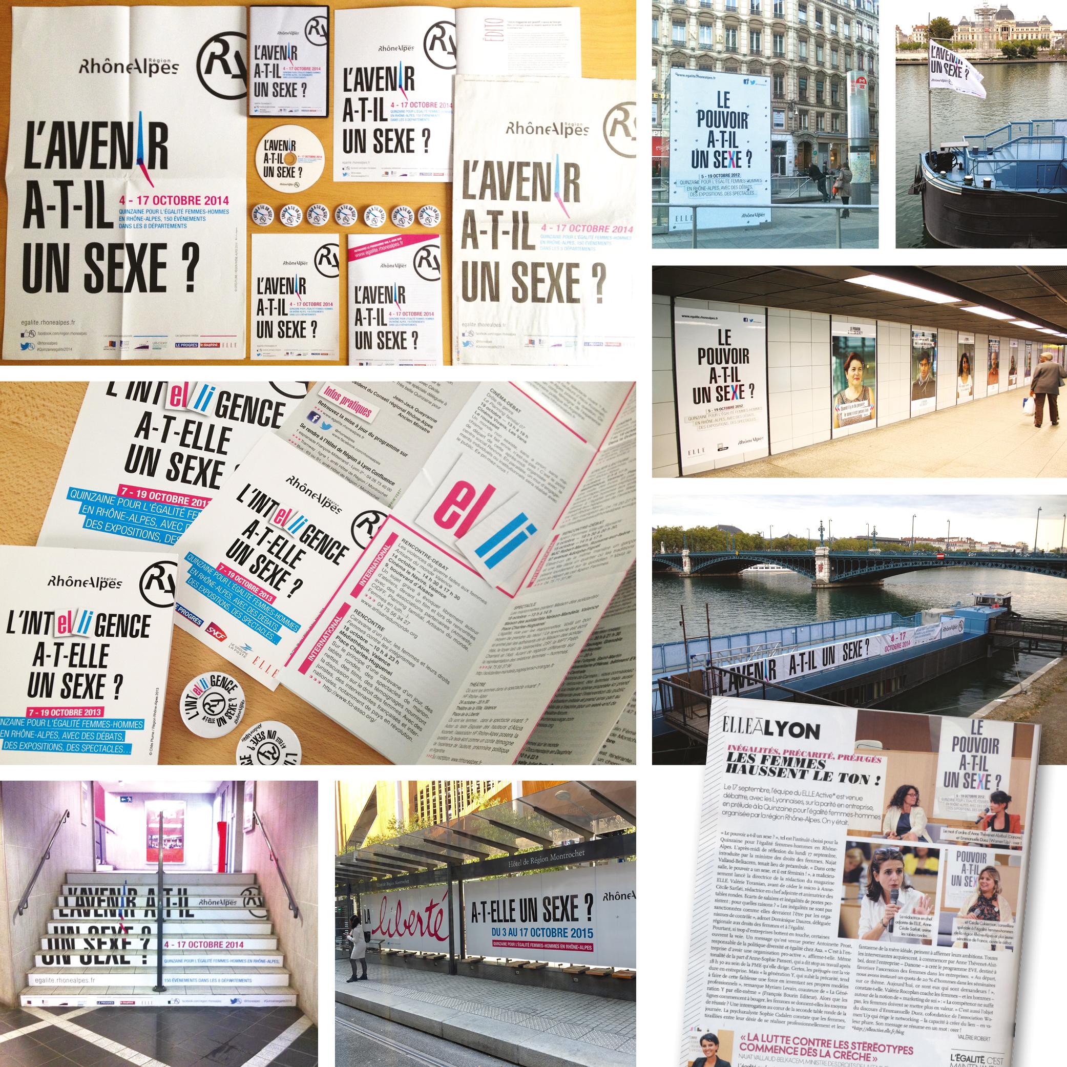 Quinzaine de l'égalité en Rhône-Alpes par Cités Plume, agence de communication à Villeurbanne, Rhône