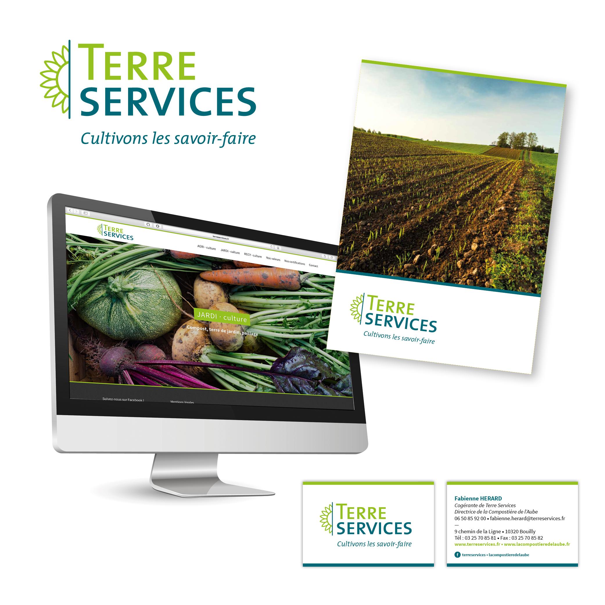Terre Services, Aube par Cités Plume, agence de communication à Villeurbanne, Rhône