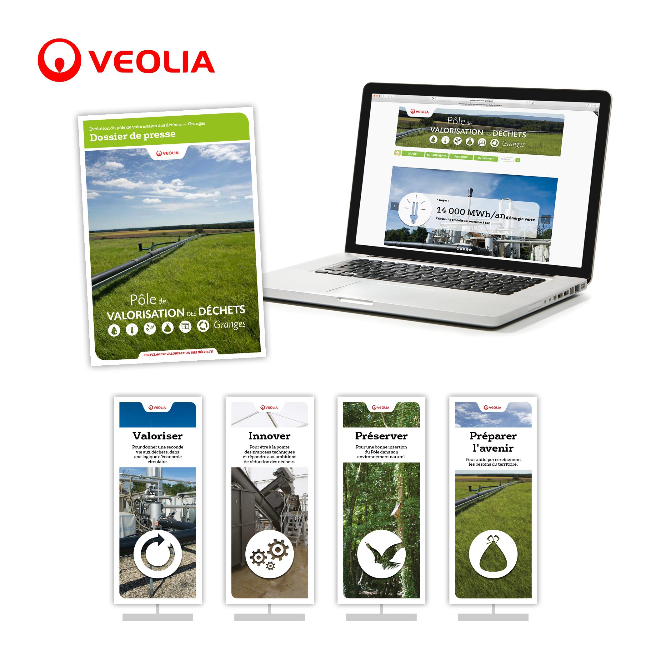 Veolia, pôle de valorisation des déchets de Granges, Saône-et-Loire par Cités Plume, agence de communication à Villeurbanne, Rhône